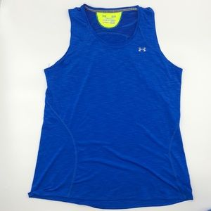 Under Armour Blue Chambray Semi Fit Workout Top